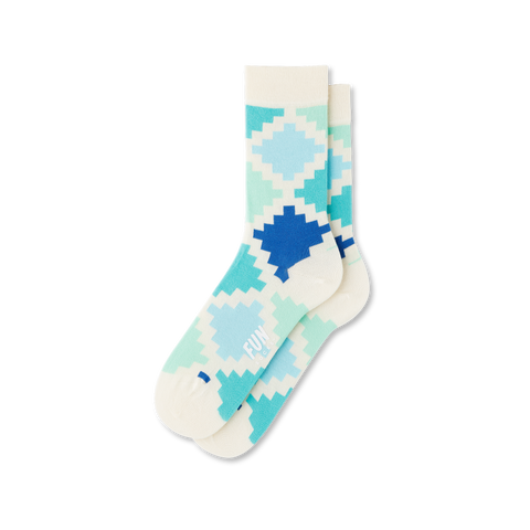 Women's Geo Check Socks - Fun Socks