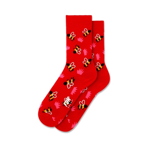 Women's Bumble Bee Crown Socks - Fun Socks