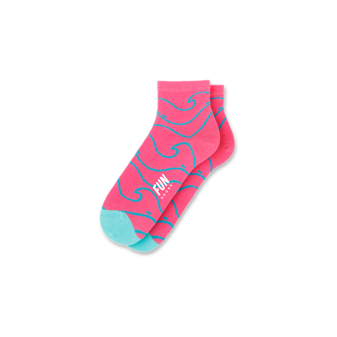Women's Wave Stripe Socks - Fun Socks