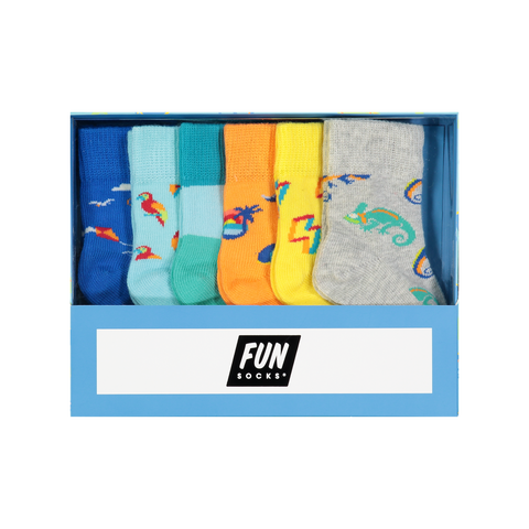 Infant 6 Pair Tropical Box Set