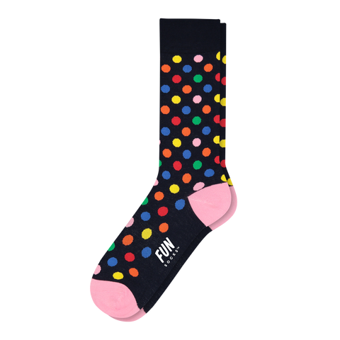 Men's Polk Dot Dress Socks