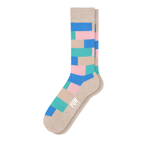 Men's Geo Block Dress Socks