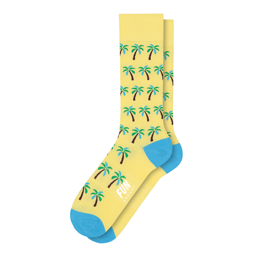 Men's Palm Tree Dress Socks