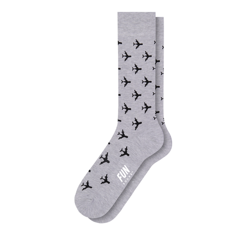 Men's Airplane Dress Socks