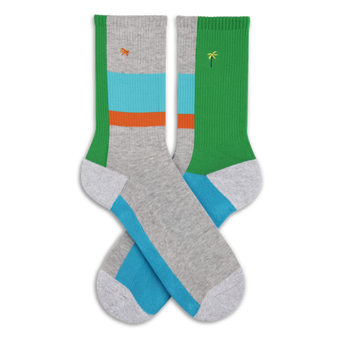 Men's Palm Tree Athletic Socks