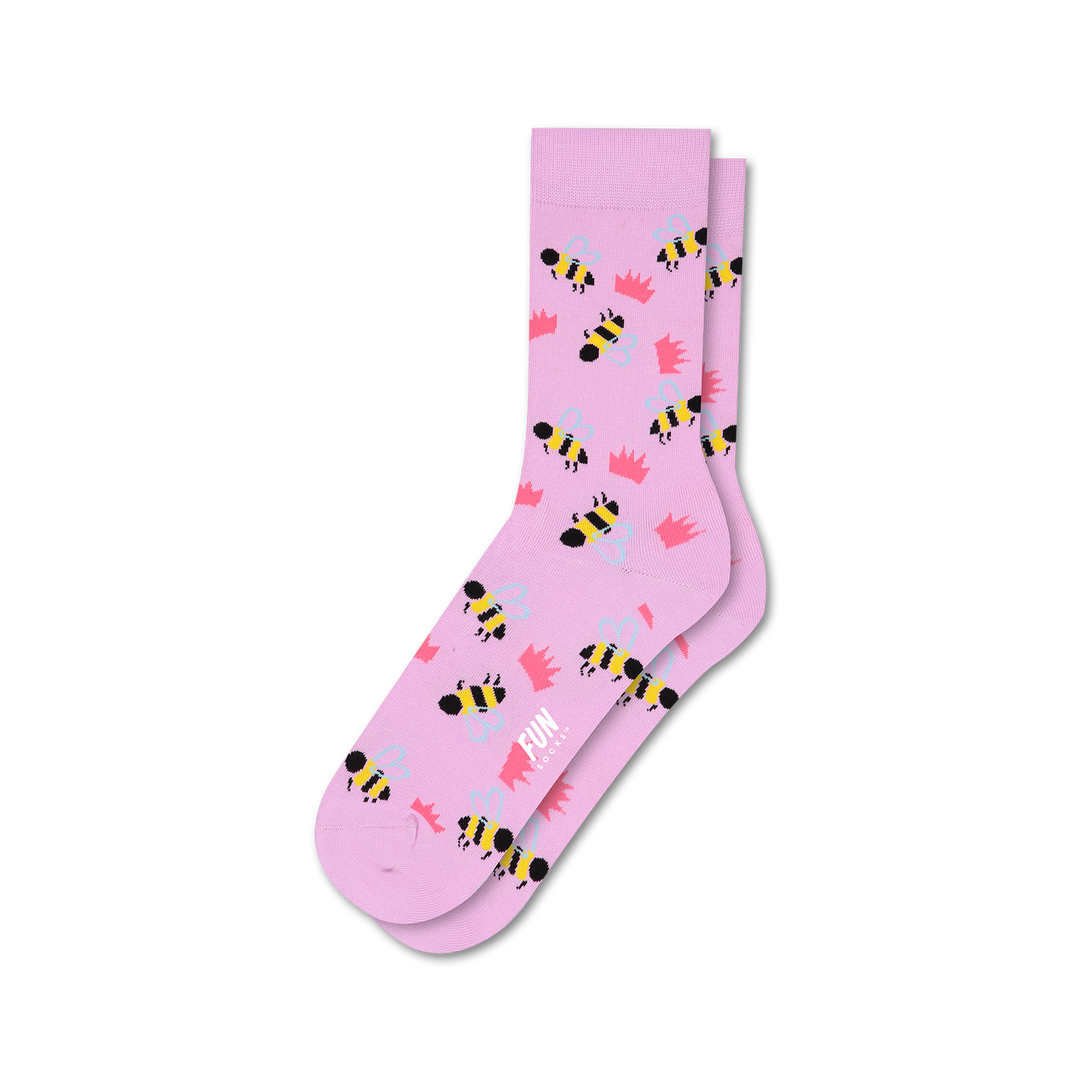 Women's Bumble Bee Crown Socks