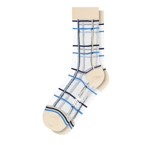 Women's Plaid Sheer Socks