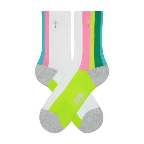 Women's Palm Tree Athletic Socks
