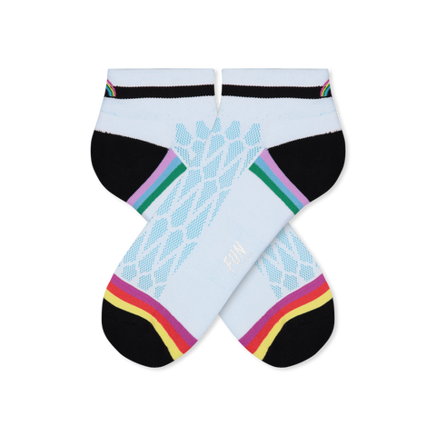Women's Rainbow Mesh Stripe Athletic Socks