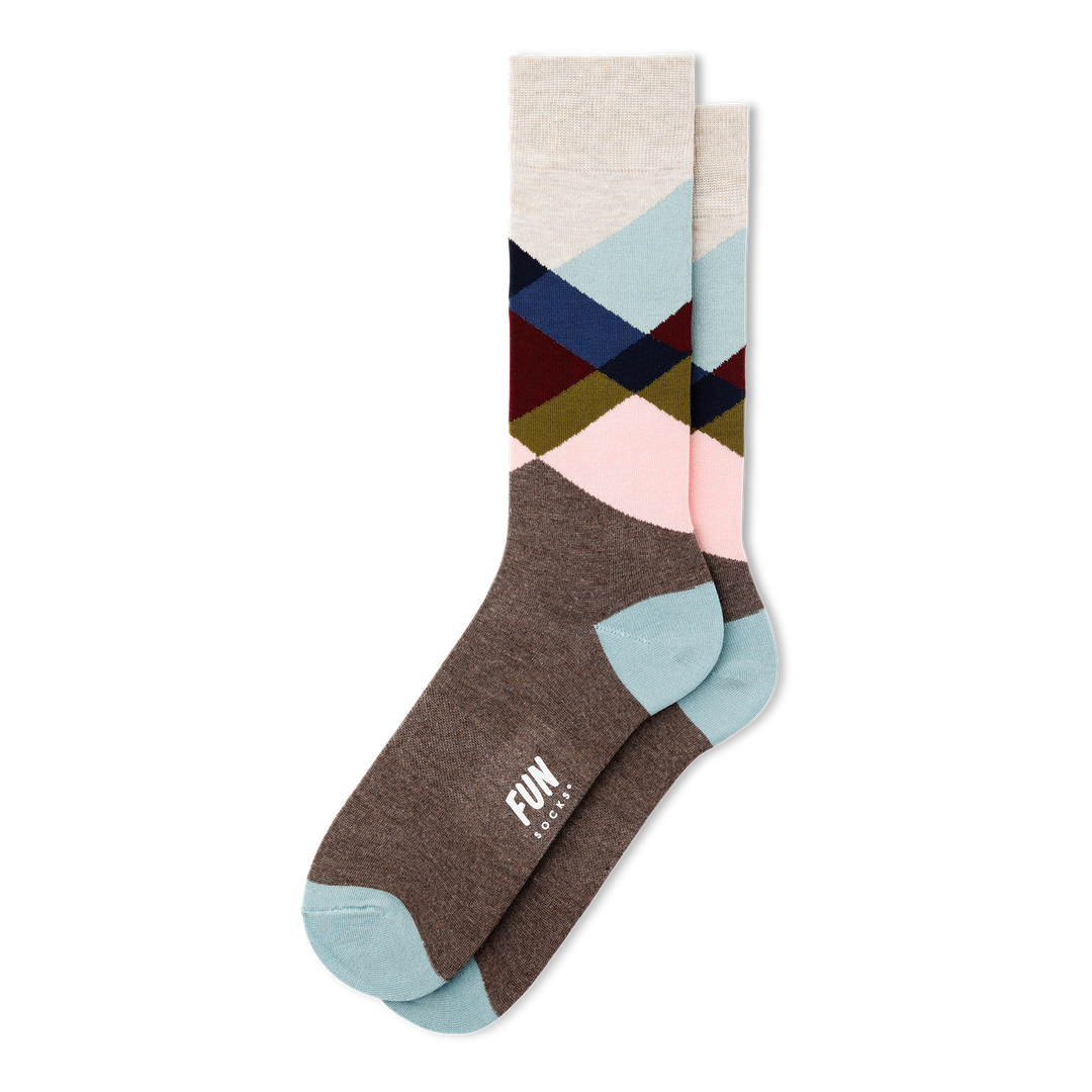 Men's Broken Argyle Dress Socks