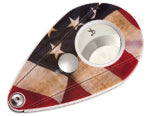 XIKAR X12 CUTTER-WHITE-UV PRINTED AMERICAN FLAG