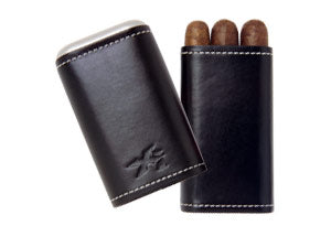 XIKAR  ENVOY TRIPLE CIGAR CASE-BLACK