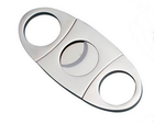 CIGAR CUTTER 52 GAUGE SILVER FOOTBALL DBL BLADE
