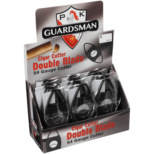 CIGAR CUTTER DOUBLE BLADE FOOTBALL 54 GAUGE BLACK