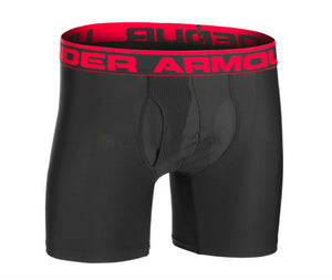 Boxer HeatGear Pack de 2 Noir/Rouge - Under Armour - LevelFour