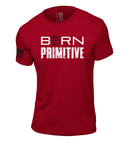 T-Shirt The Brand Tee (Red) - Born Primitive