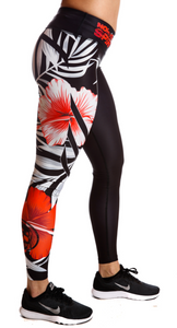 Legging Tights Red Flowers (Beauty) - Northern Spirit - LevelFour