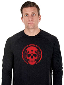 Sweat longues manches noir red skull - Northern Spirit