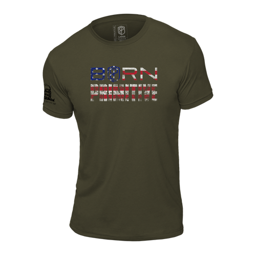 T-Shirt Patriot Brand Tee OD Green  - Born Primitive