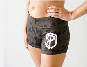 Double Take Booty Shorts (camouflage) - Born Primitive