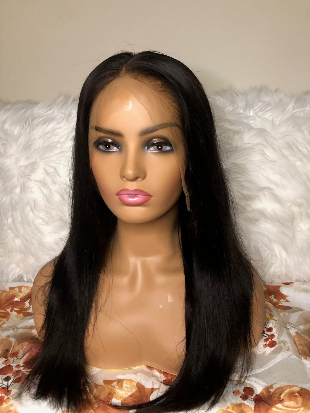 Customized  Virgin Brazilian Frontal 13x6  Straight Wig!