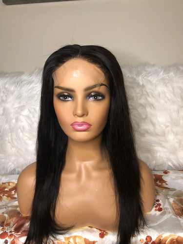 14'' Straight  5*5 HD Transparent Closure  Wig
