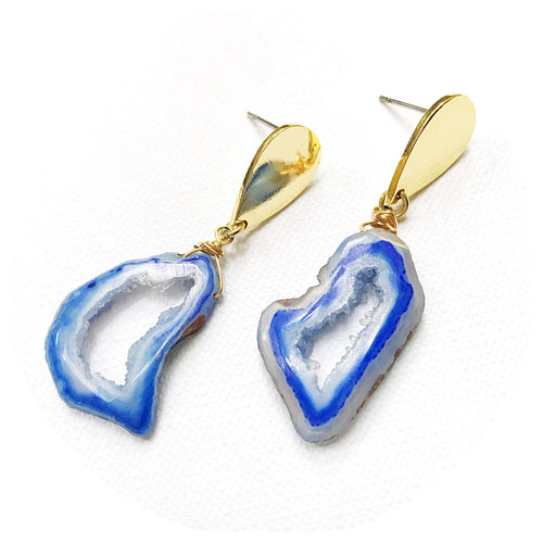 Cobalt Crystal Earrings