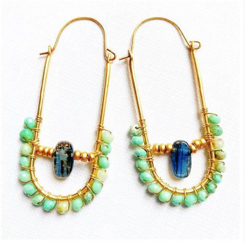 Aurora Hoop Earrings- Mint