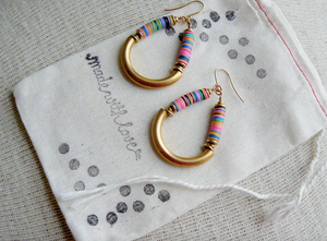 Beaded Boho Dangle Hoop Earrings- Loop de Loop