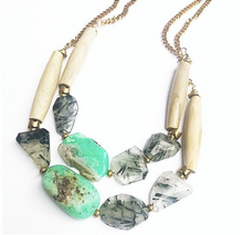 Asymmetrical Boho Necklace- Eden