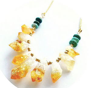 Harvest Sunset Boho Necklace