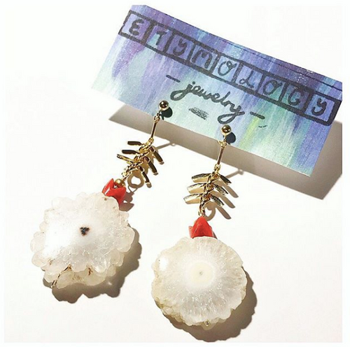 Solar Quartz - Boho Dangle Earrings