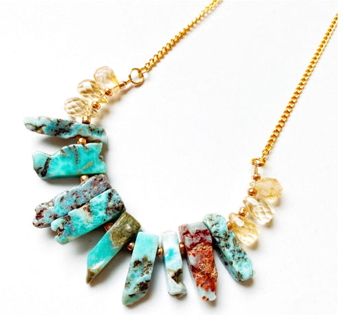 Turquoise Cliffs Necklace