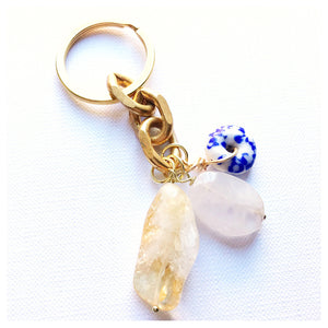 Spring Time Crystal Keychain
