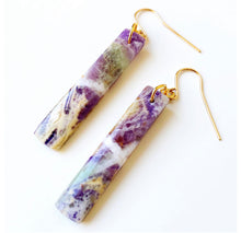 Petrified Amethyst Earrings