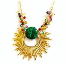 Malachite Sunburst Necklace