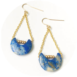 Lapis Moonbeam Earrings