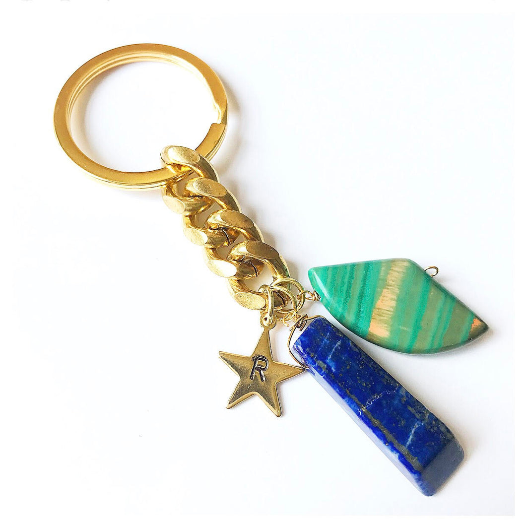 Customizable Initial Crystal Keychain