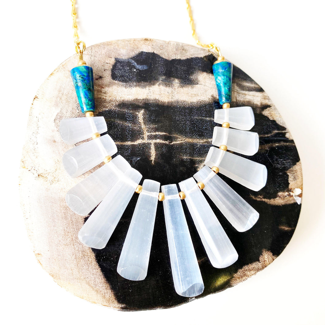 Selenite Goddess Necklace