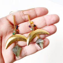 Mystic Labradorite Statement Earrings