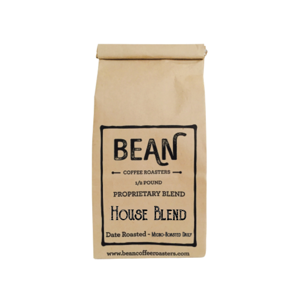 Whole BEAN Coffee 1/2 lb House Blend