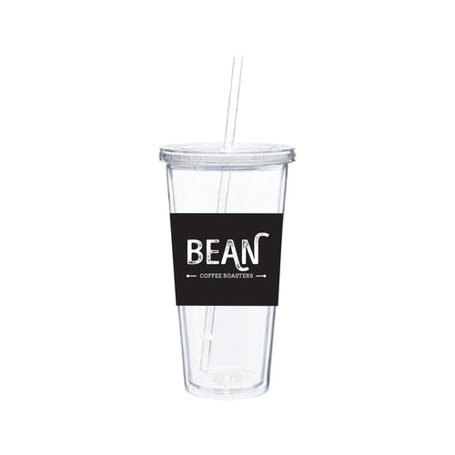 BEAN Coffee Clear Cold Beverage Tumbler
