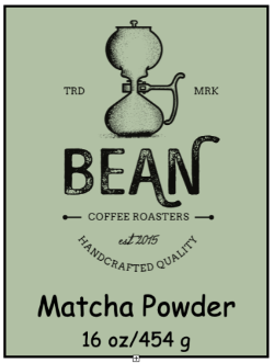 Bean Coffee Roasters Matcha Powder 16oz