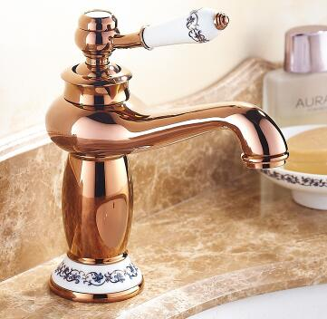 Bathroom Sink Faucet with Ceramic Single Handle Hole Washbasin ...