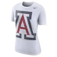 NCAA ARIZONA WILDCATS WOMEN'S BOYCUT NIKE TEE - WHITE