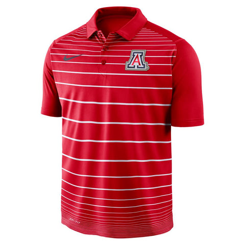 NCAA ARIZONA WILDCATS NIKE STRIPE POLO - RED