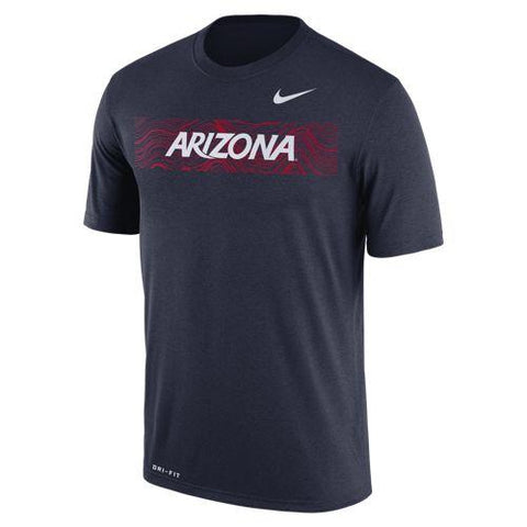NCAA Arizona Wildcats Nike Dri Fit Cotton Logo Legend Tee - Navy