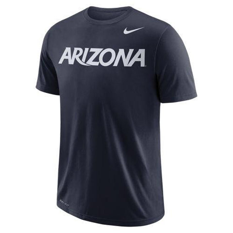 NCAA Arizona Wildcats Nike Dri Fit Cotton Wordmark Tee - Navy
