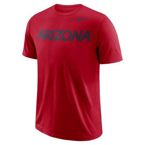 NCAA Arizona Wildcats Nike Dri Fit Cotton Wordmark Tee - Red