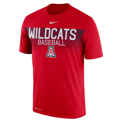 NCAA ARIZONA WILDCATS DRI FIT LEGEND TEAM ISSUE NIKE BASEBALL TEE - RED